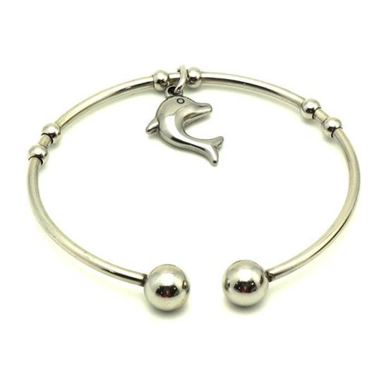 Picture of Charm Dolphin Bangle Stainless Steel