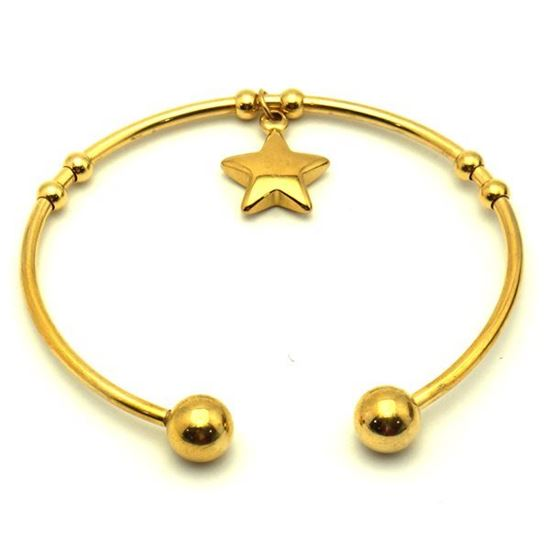 Picture of Charm Star Bangle Stainless Steel Plating
