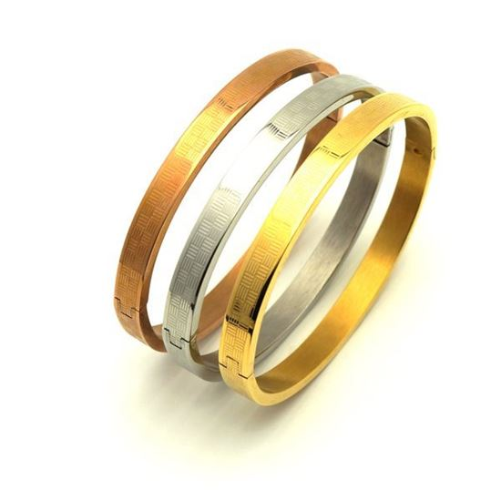 Picture of Bangle Set Stainless Steel Three Gold Plating
