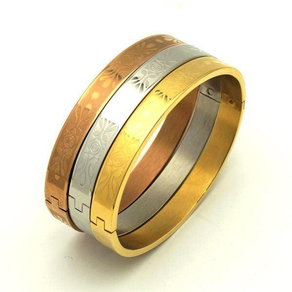 Picture of Stainless Steel  IP Plating Bangle set