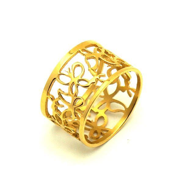 Picture of Butterfly Ring IP Plating Stainless Steel