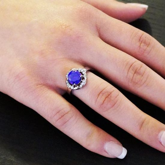 Picture of Crystal Ring Stainless Steel High Polished
