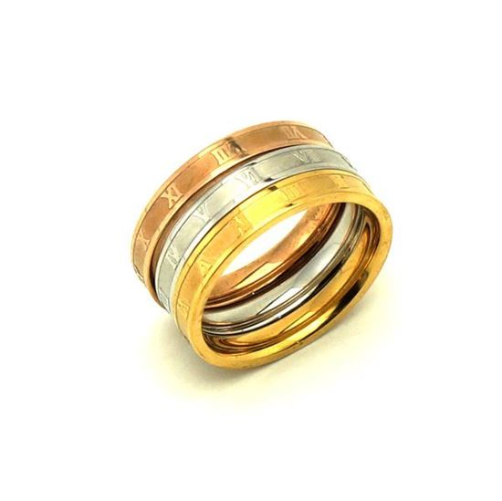 Picture of Trio Rings  Stainless Steel Gold Plating Polished