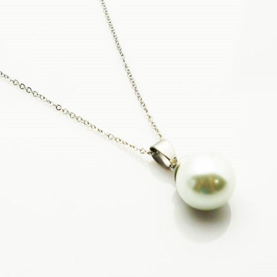 Picture of Pearl Necklace Stainless Steel High Polished