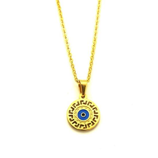 Picture of Evil Eye Necklace Stainless Steel Enamel
