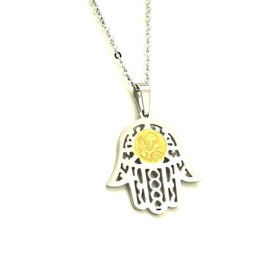 Picture of Hamsa Simbol Necklace Stainless Steel Polished
