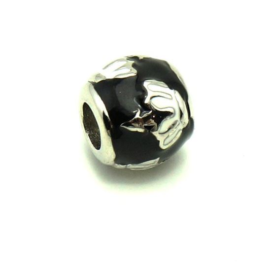 Picture of Black and White Enamel  Pendant Stainless Steel