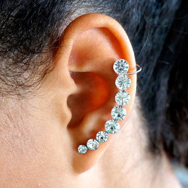 Picture of Ear Cuff Crystal Earrings Stainless Steel