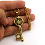 Picture of Key Gold Plating  Stainless Steel Necklace