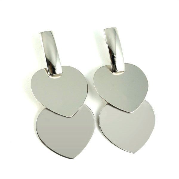 Picture of Heart Dangling Earrings Stainless Steel