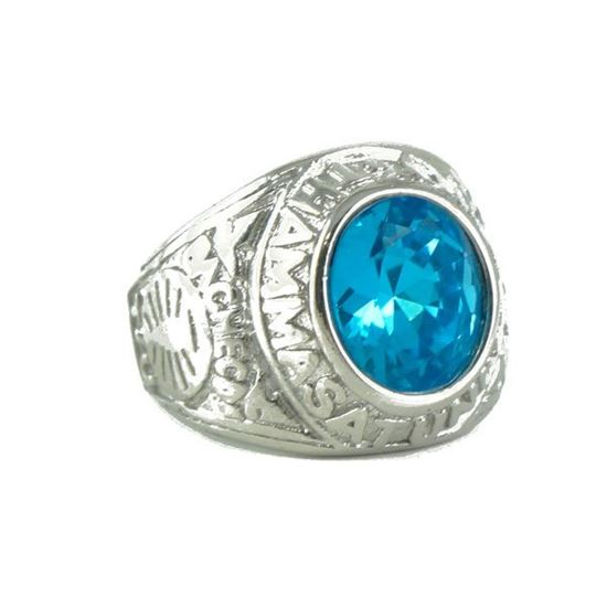 Picture of Men Blue Stone Ring Stainless Steel