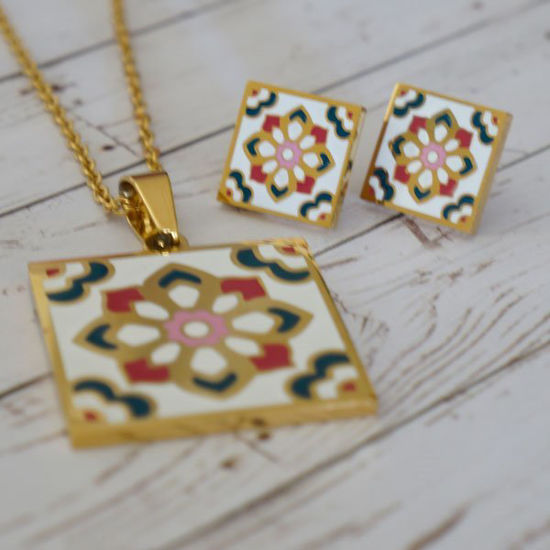 Picture of Flower Set Necklace Stainless Steel