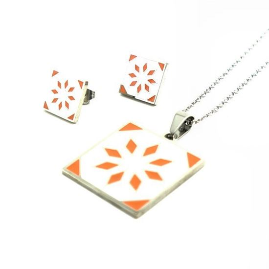 Picture of Orange Star Necklace Stainless Steel