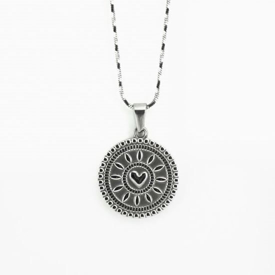 Picture of Silver Coin Necklace Stainless Steel