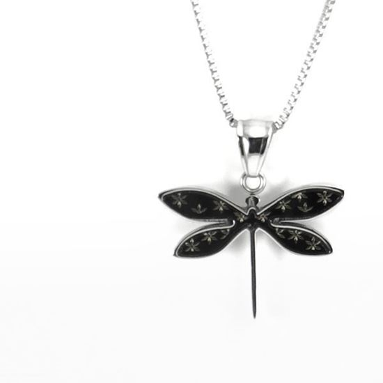 Picture of MIS S1 Black Dragonfly Necklace Stainless Steel