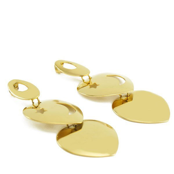 Picture of Dangling Stud Earrings Gold Stainless Steel