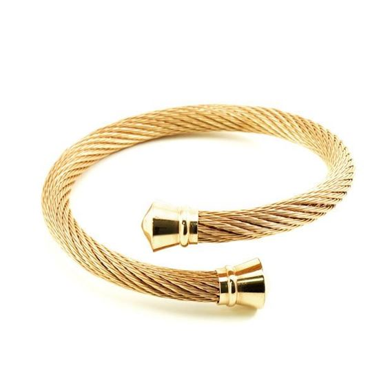 Picture of Cable Bangle Stainless Steel Gold Plating