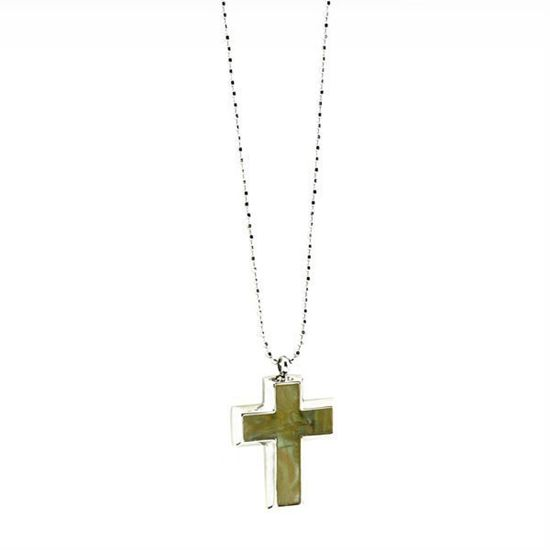 Picture of Crucifix Necklace Stainless Steel High Polished