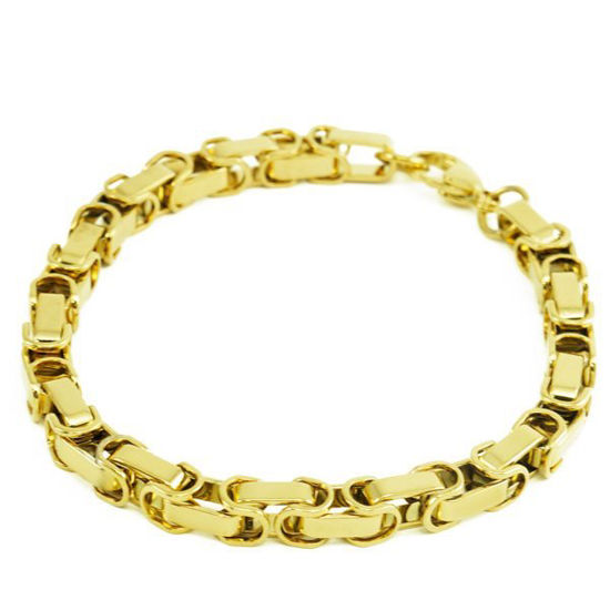Picture of Gold Square Closed Bracelet Stainless Steel