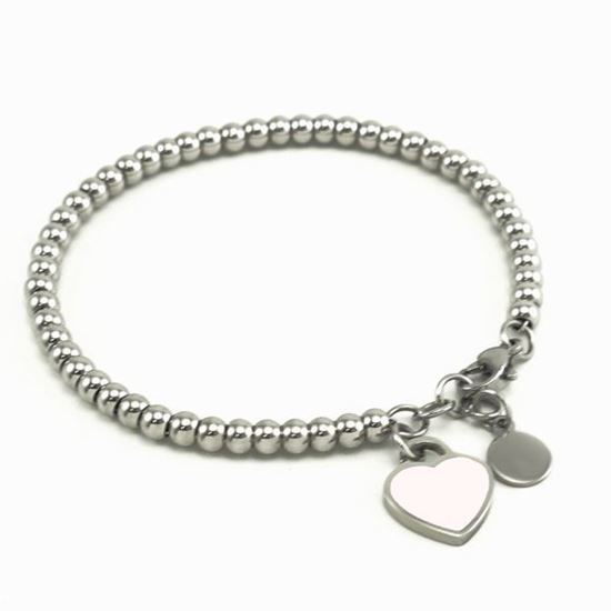 Picture of Heart Pendant Bracelet Stainless Steel