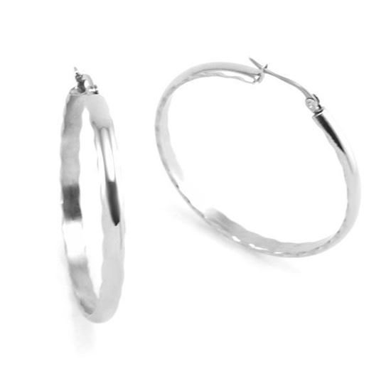 Picture of Hoop Earrings Stainless Steel High Polished