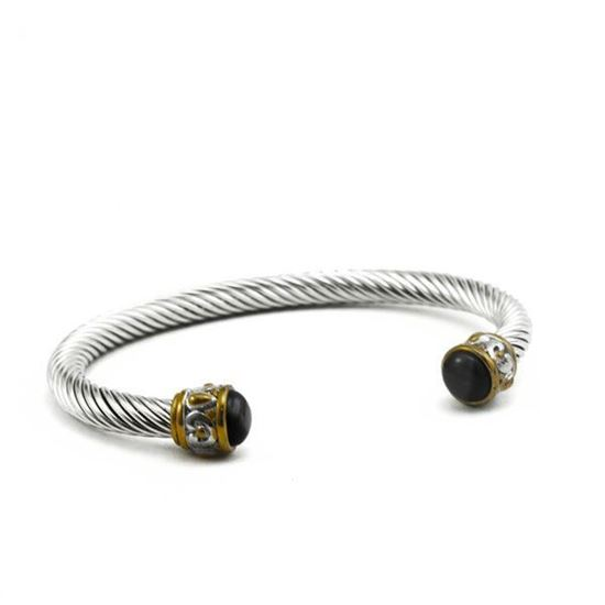 Picture of MIS Open Bangle Stainless Steel Stone