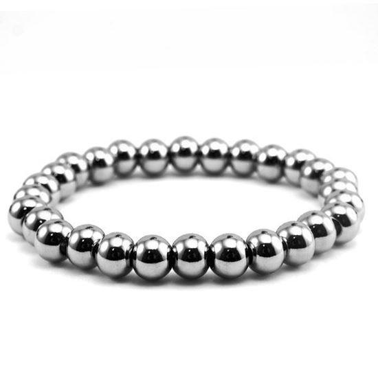 Picture of MIS Bead Elastic Bracelet Stainless Steel