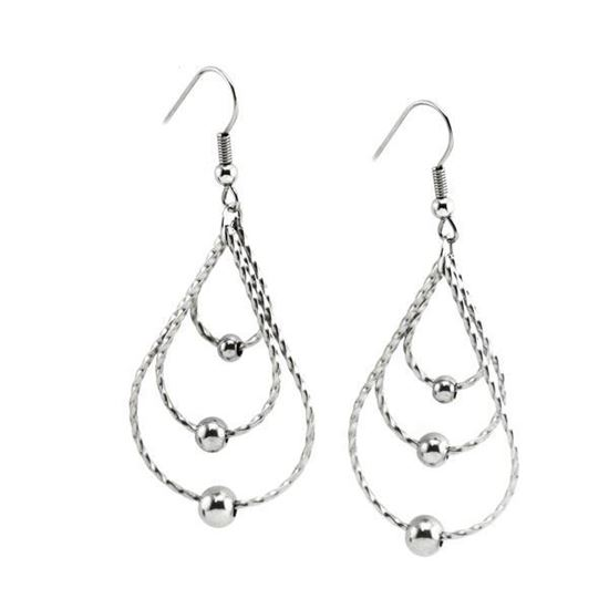 Picture of Dangling Earrings Stainless Steel High Polished