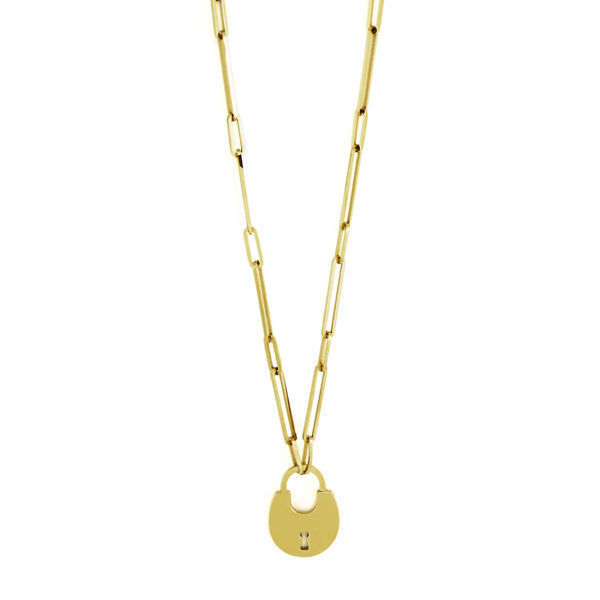 Picture of MIS Gold Lock Necklace Stainless Steel  316L
