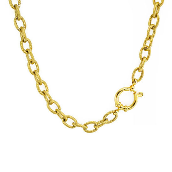 Picture of Stainless Steel Gold Platting Chain