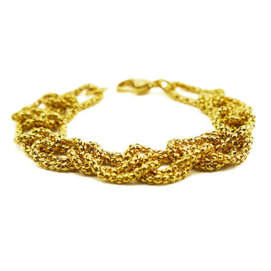 Picture of MIS Gold Plating Interlaced Bracelet Stainless Steel