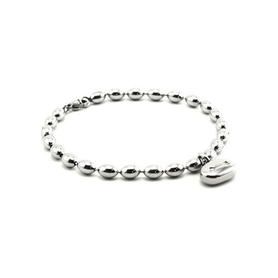 Picture of MIS Bead Bracelet Stainless Steel Polished