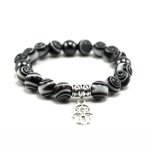 Picture of Crystal Handmade Elastic Bracelet With Hansa Hand