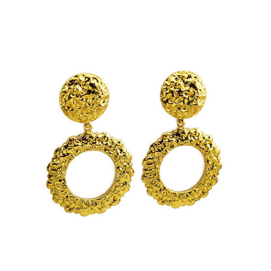 Picture of Dangling Earrings Gold Plating Stainless Steel