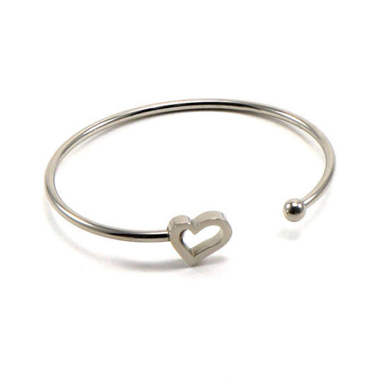 Picture of Cuff Bangle Bracelet Expandable Fine Stainless Steel