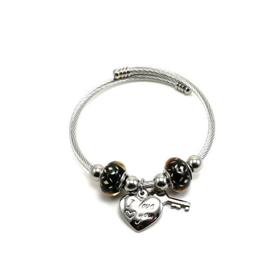 Picture of Charm Bracelet Bangle Stainless Steel