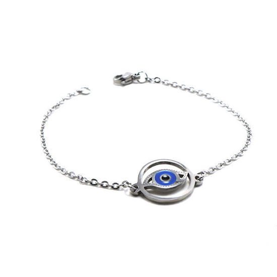 Picture of Evil Eye Bracelet Stainless Steel