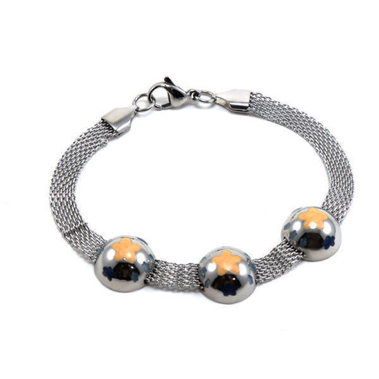 Picture of Flower Bracelet Stainelss Steel High Polished