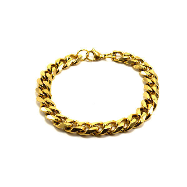Picture of Men Cuban Chain Bracelet Stainless Steel