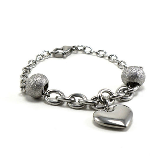 Picture of Heart Bracelet Stainless Steel Polished
