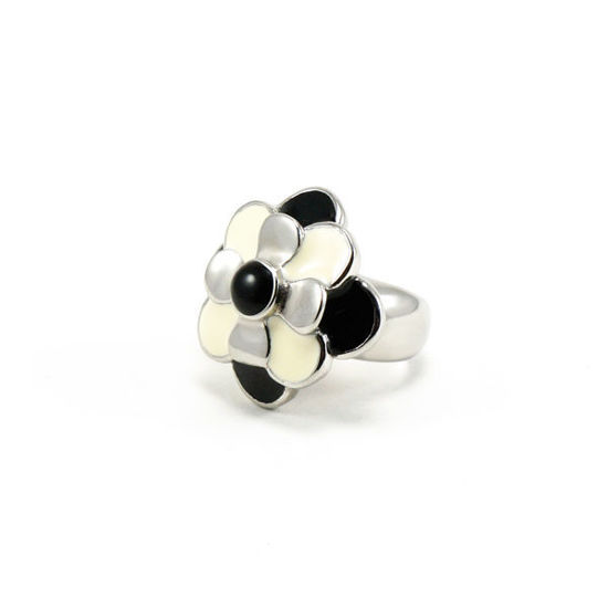 Picture of Flower Ring Stainless Steel Enamel High Polished