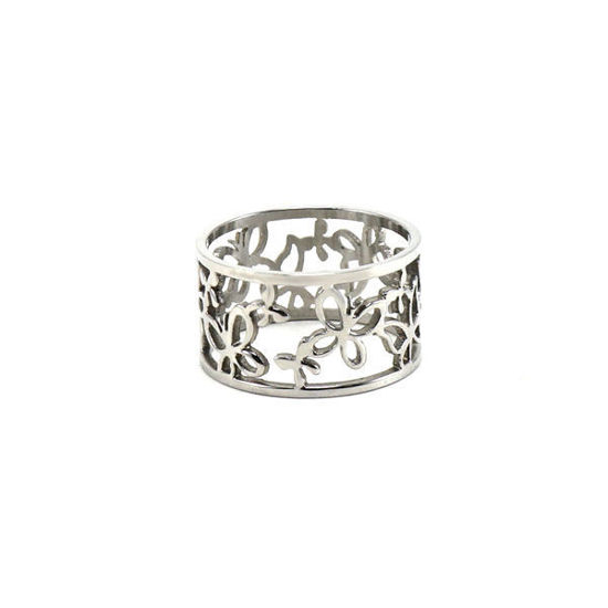 Picture of Butterfly Ring Stainless Steel High Quality Polished