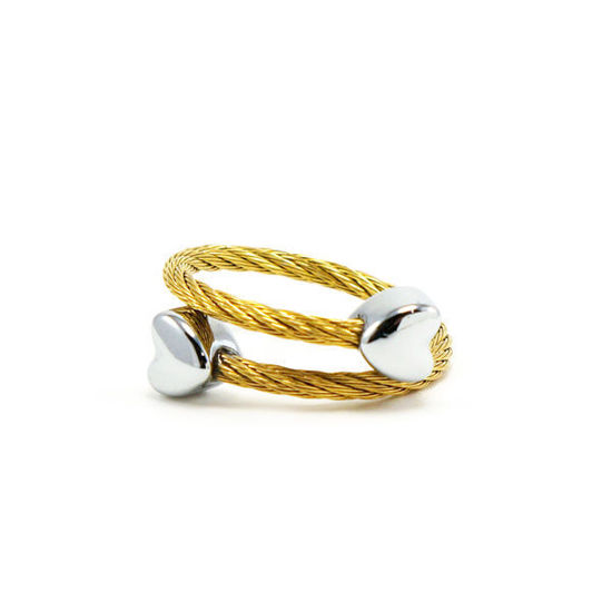 Picture of Cable Wire Ring Stainless Steel Gold Plating