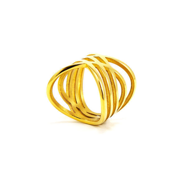 Picture of Gold Plating Stainless Steel Ring