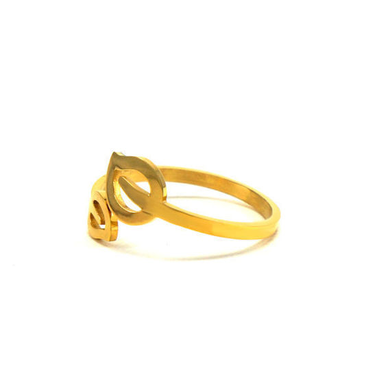 Picture of Stainless Steel Gold Plating Open Ring