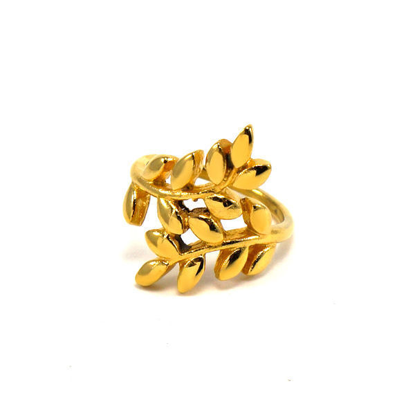 Picture of Laurel Leaf Rings Stainless Steel Gold Plating
