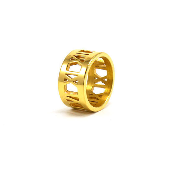 Picture of Roman Numeral Stainless Steel Ring