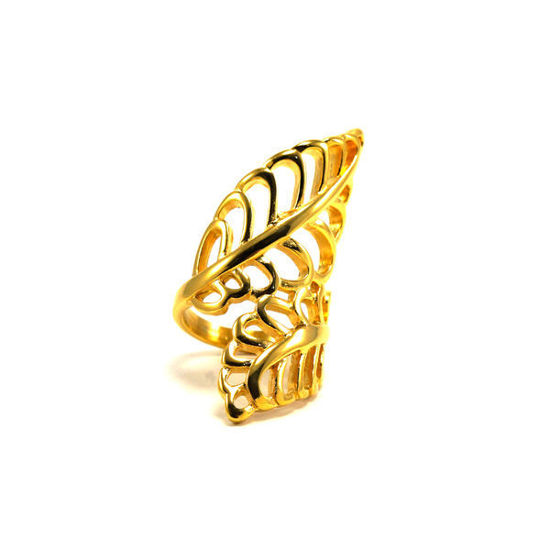 Picture of MIS Gold Leaf Stainless Steel Ring