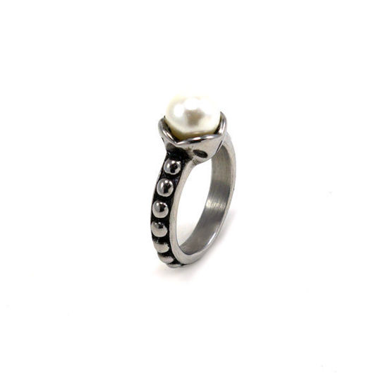 Picture of Pearl Ring Stainless Steel High Polished