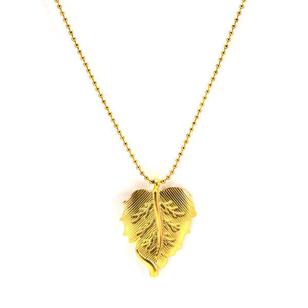 Picture of Leaf Necklace Stainless Steel  Gold Plating